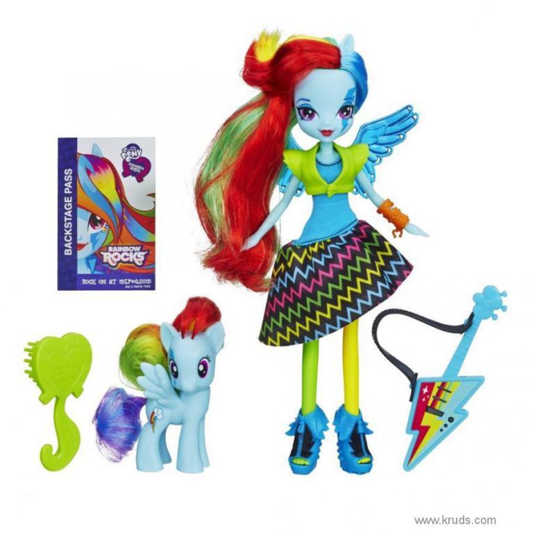 лялька рейнбоу деш і поні серія Rainbow Rocks дівчата еквестріі