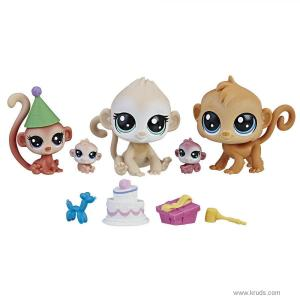 """Фото Cемейство обезьян - Тематический набор """"День рождения""""  Littlest Pet Shop"""