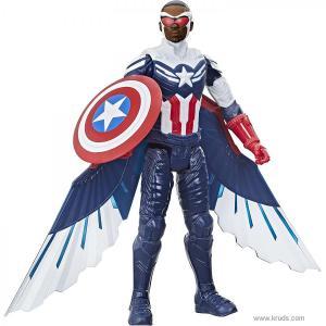Фото Капитан Америка / Сокол - фигурка Марвел 30 см серия Титаны