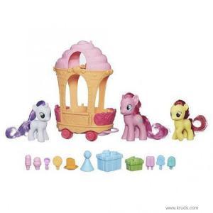 Фото Пинки Пай, Свити Белль, Эппл Блум и тележка сладостей -  Игровой набор Май Литл Пони