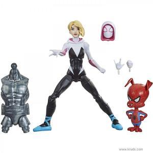 Фото Гвен Стейси (Gwen Stacy) с мини-фигуркой Свин-паук -  фигурки Marvel Legends