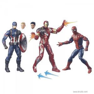 Фото Капитан Америка, Человек Паук, Железный человек - Набор коллекционных фигурок Marvel Legends