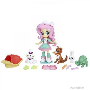 Фото Мини кукла Флаттершай с домашними животными  - мини-фигурки Девочки Эквестрии