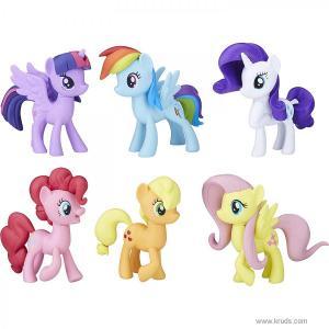 Фото Коллекция пони с гривой 6 шт Май Литл Пони Hasbro