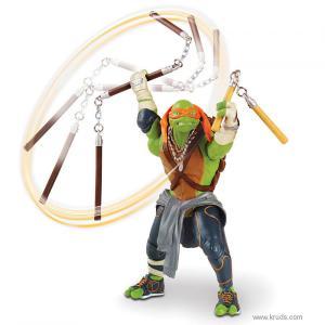 Фото  Микеланджело - Фигурка Черепашка-ниндзя с боевым оружием серия Movie