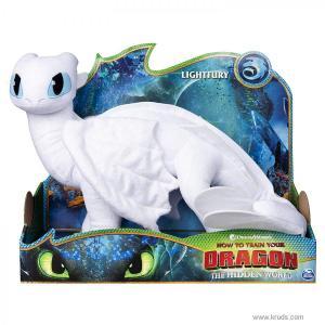 Фото Дневная Фурия - мягкая игрушка дракон (Белая фурия) 35 см.