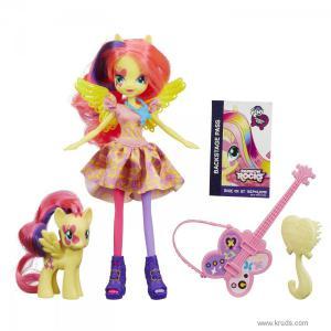 Фото Кукла Флаттершай и пони серия Rainbow Rocks - Девушки Эквестрии