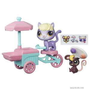 Фото Кошечка Далила и мышонок серия Городской транспорт (Littlest Pet Shop City Rides)